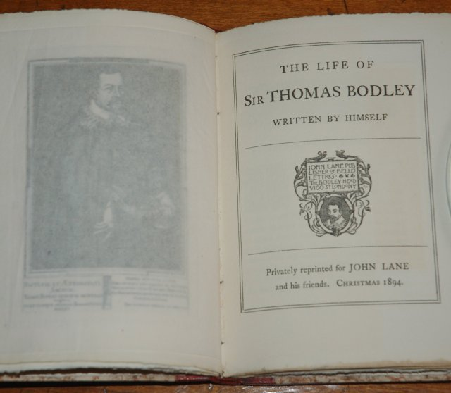 1894 - Lane Christmas Book- The Life of Sir Thomas Bodley- 2 title page