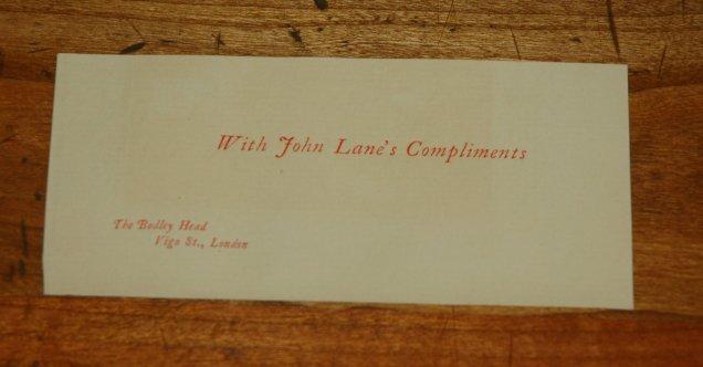1894 - Lane Christmas Book- The Life of Sir Thomas Bodley- 4 compliments slip
